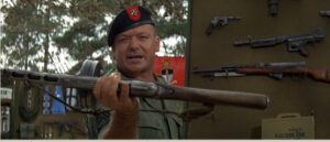 Muldoon showing Commie Weapons