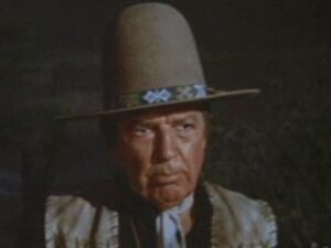 Bruce Cabot as Indian tracker Sam Sharpnose in Big Jake 1971