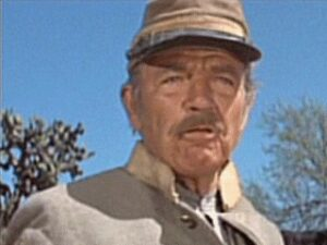"Bruce Cabot as Jeff Newby the ""oldest Confederate [my sarcasm]"" in The Undefeated 1969"